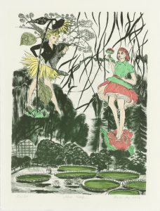 Rosa Loy, Neue Wege, 2016, Lithografie 36x27cm, Blatt 42x32cm, Auflage 20