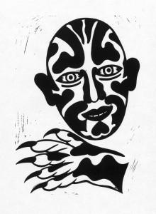 Bekannter, 2012, 40x30, Linolschnitt
