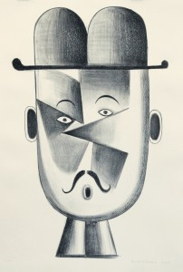 Christoph Ruckhäberle, untitled (Herr mit Hut), 2007, Lithografie