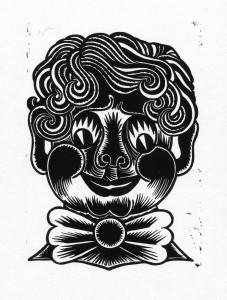 Fratze, 2012, 40x30, Linolschnitt