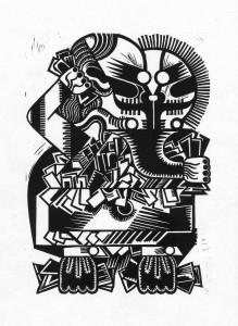 Signum, 2012, 40x30, Linolschnitt