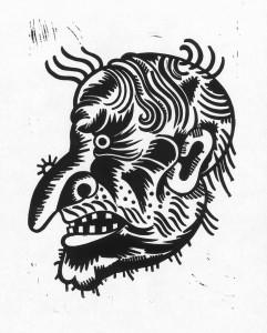 Zauber, 2012, 40x30, Linolschnitt