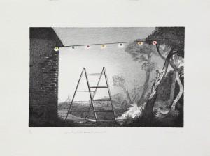 Steve Viezens, Zwischenfall beim Lichterfest, 2007, 21x32cm, 44,5x33,5cm, Lithografie, 10