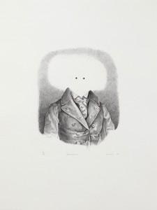 Steve Viezens, Anonymos, 2007, 17x16cm, 44,5x33,5cm, Lithografie, 16