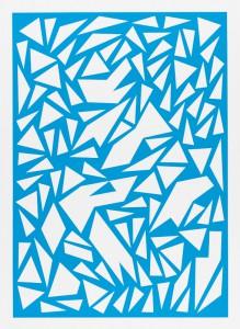 Franziska Holstein, o. T. (blau, 10/19), 2014, 64,6 x 47,2cm, Handoffsetdruck, ED 10 + 1 AP