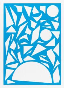 Franziska Holstein, o. T. (blau, 12/19), 2014, 64,6 x 47,2cm, Handoffsetdruck, ED 10 + 1 AP
