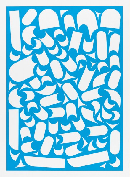 Franziska Holstein, o. T. (blau, 17/19), 2014, 64,6 x 47,2 cm, Handoffsetdruck, ED 10 + 1 AP