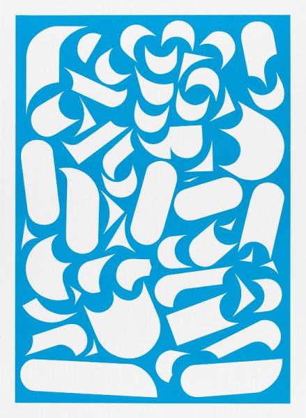 Franziska Holstein, o. T. (blau, 19/19), 2014, 64,6 x 47,2 cm, Handoffsetdruck, ED 10 + 1 AP