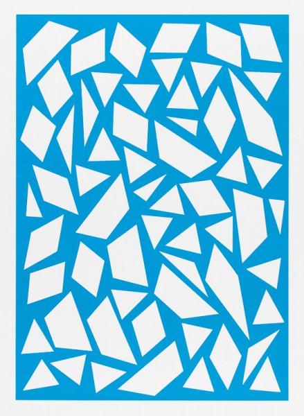 Franziska Holstein, o. T. (blau, 6/19), 2014, 64,6 x 47,2 cm, Handoffsetdruck, ED 10 + 1 AP