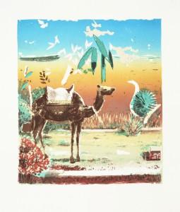 Wüste I, 2011, 34 x 28,5 cm, Lithografie