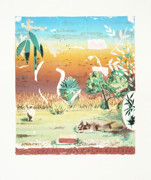 Wüste II, 2011, 34 x 28,5 cm, Lithografie