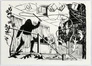 Geist, Lithografie, 39x53cm, 2006 (1)
