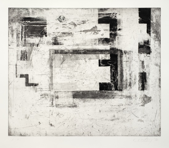 Vlado Ondrej, Aufgang, 60x70cm, 2012, Aquatintaradierung, Auflage 6