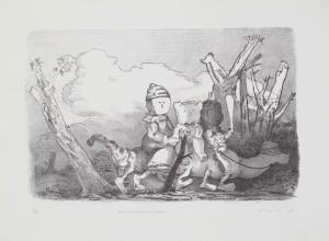 Züricher Reisegruppe, 2007, 23x36cm, 44,5x33,5cm, Lithografie, 17