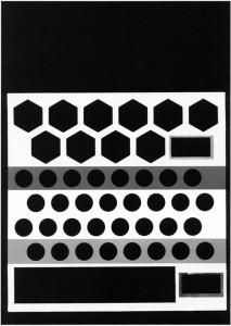 o.T. (Siedler, Kreise), 2009, 42x30cm, Handoffsetdruck