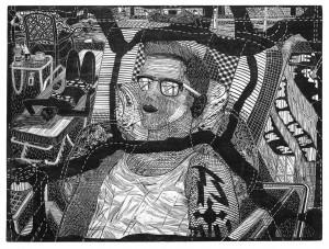 Gabriela Jolowicz, Egypt, 2014, Holzschnitt auf Papier, Druckmaß 45 x 60 cm, Auflage: 10