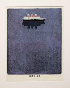 Alexander Gutsche, Amerika, 2010, Auflage- 4:5, Grafikmaß- 34 x 27,5 cm, Blattmaß- 50 x 35 cm, Holzschnitt-Materialdruck
