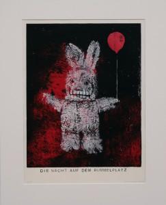Alexander Gutsche, Die Nacht auf dem Rummelplatz, 2010, Materialdruck
