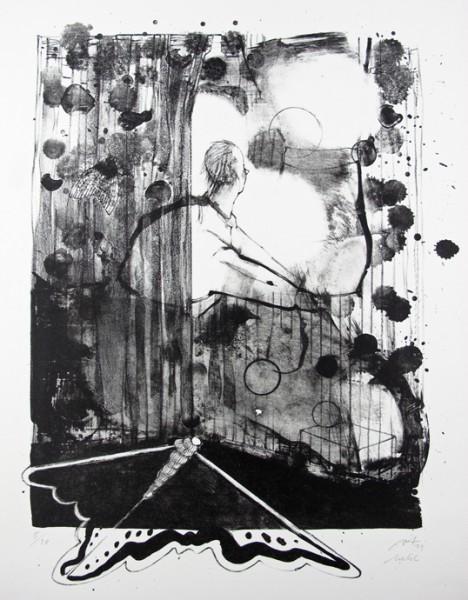 Anya Triestram, Mehl, 2011, 47x35cm, Lithografie