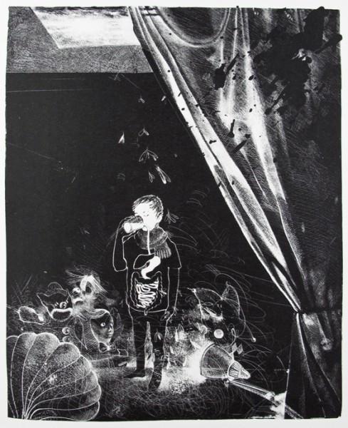 Anya Triestram, Milch, 2011, 47x35cm, Schablithografie