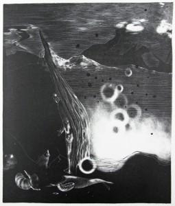 Anya Triestram, Mord, 2011, 47x35cm, Schablithografie