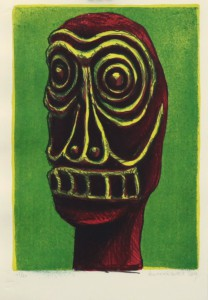 CR, untitled (Maske), 2006, Lithografie