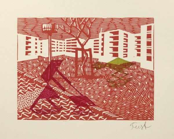 Christoph Feist, o.T. , 17,5x24cm, 29x35cm, Holzschnitt, Unikat