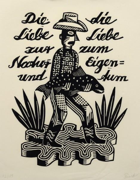 Christoph Feist, o.T. , 2003, 37,5x29cm, 45x35cm, Holzschnitt