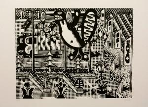 Christoph Feist, o.T. , 2003, 50x70cm, Holzschnitt