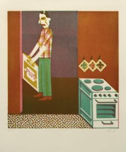 Christoph Feist, o.T. , 31x30cm, 45x35cm, Holzschnitt