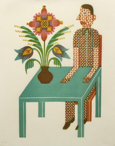 Christoph Feist, o.T. , 40x27cm, 45x35cm, Holzschnitt