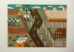 Christoph Feist, o.T. , 2003, 39x53cm, 50x70cm, Holzschnitt