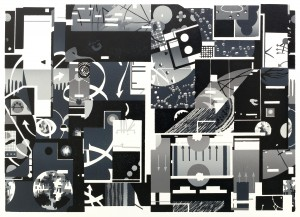 Benjamin Dittrich, Index (klein), 30 x 42 cm, Linolschnitt, 5V., 2013