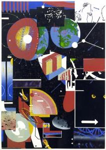 Benjamin Dittrich, Tab. 7, 59,5 x 42 cm, Linoldruck, 5 Varianten, 2013