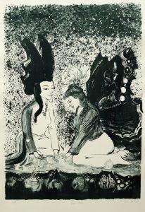 Fuenf Perlen-78,5 x 43,5 cm-70 x 50 cm-2011-Lithografie-660-10von15
