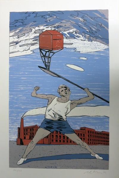 Axel Krause, Heimsuchung II, 2007, 52x34cm, Siebdruck