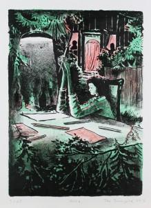 Tilo Baumgärtel, Helia, 2013, 33,3x24,2cm, 37,6x27,5cm, Farblithografie