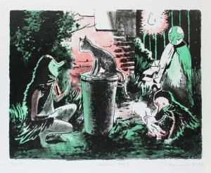 Tilo Baumgärtel, Opposite Day 2,2013, 25,7x33,2cm, 30,4x36,9cm, Farblithografie