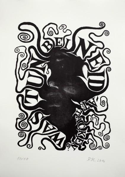 Paule Hammer, Was tun bei Neid, 2014, Lithografie