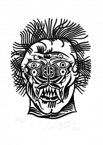 Sebastian Gögel, Sophisticated Living, 2013, Blattmaß: 59 x 42cm, Grafikmaß: 45 x 32cm, Lithografie