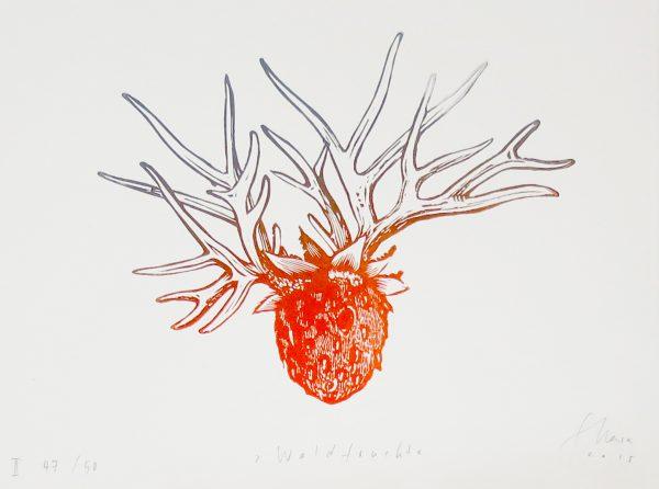Stephanie Marx, Waldfrucht, 2015, 28x36,5cm, Linolschnitt