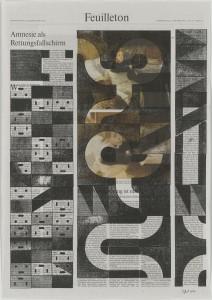 Stößel, Amnesie als Rettungsfallschirm, 2014, 57x40cm