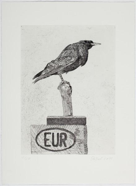 Stößel, Eurostar, 2011, Ätzradierung auf Bütten, 44 x 32 cm, Auflage 20