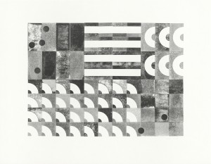 Stößel, (Murmelbahn), 2014, Stempeldruck, Unikat, 70x90cm