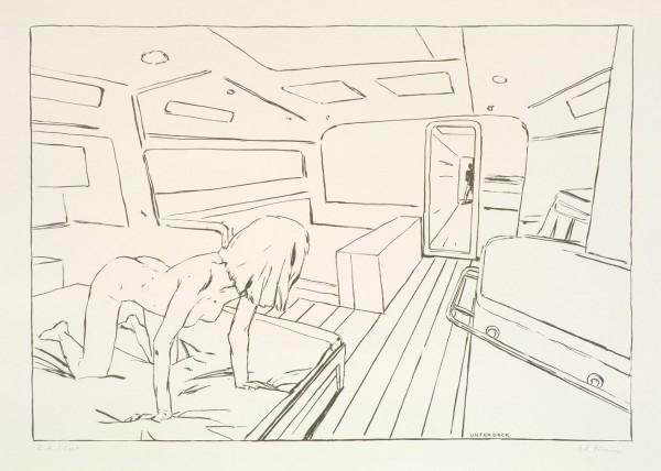 Unter Deck, 2007, 67x96cm, Siebdruck