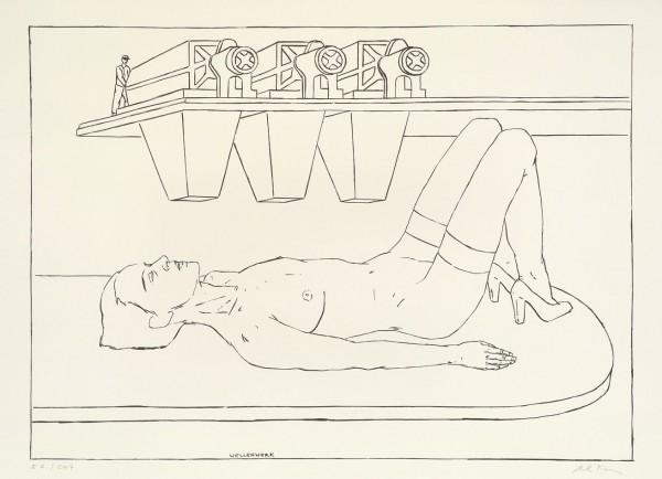 Axel Krause, Wellenwerk, 2007, 67x96cm, Siebdruck
