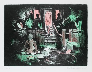 Tilo Baumgärtel, Zone, 2013, 24,7x33,5cm, 29,5x37,4cm, Farblithografie