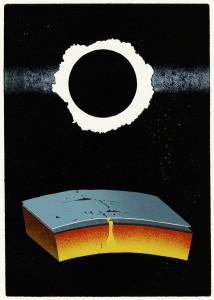 Erde-30 x 21 cm-Linol-5Varianten-2013_410Euro