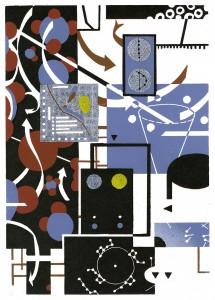 Benjamin Dittrich, Tab. 4, 2013, 42x30cm Linocut