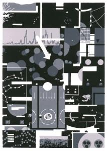 Benjamin Dittrich, Tab. 5, 2013, 30 x 21cm Linocut